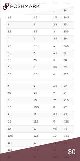 Shoe Size Comparison Chart Shoe Size Chart For Comparison