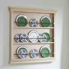 elegance wooden plate rack display