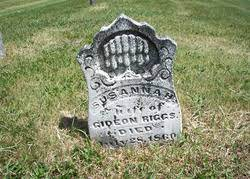 Susanna Pitcher Riggs (1781-1860) - Find A Grave Memorial