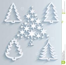 Paper Decorations Christmas Christmas Trees Paper Holiday Decorations Stock Photo Image