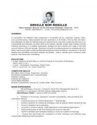 qa sample resume of testing cipanewsletter entry level qa resumes template
