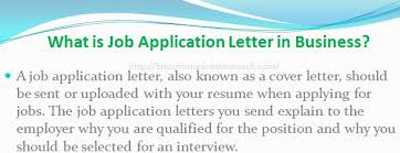 What Is Job Application Letter In Business