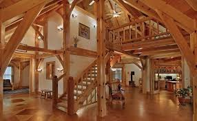 Timber Frame Home Designs and Floor Plans Examples   Great    Ramsey Hilltop Home