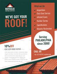 Services Flyer Roofing Services Flyer Design Template In Psd Word Publisher