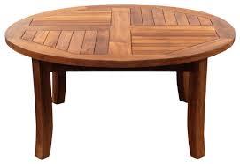 teak wood italy round coffee table