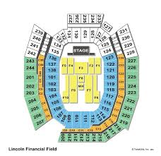 Lincoln Financial Field Interactive Concert Seating Chart Lincoln Financial Field Philadelphia Pa Wheres My Seat