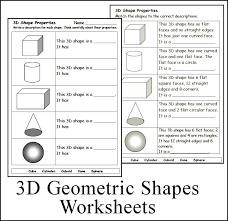 3D Geometric Shape Worksheets #math #homeschool #teach | CHSH ...