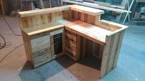 pallet office desk reception desk