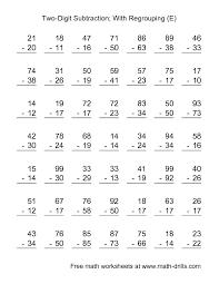 Subtraction Frenzy Worksheets Unique Subtraction Worksheet TwoDigit Subtraction With Some Regrouping