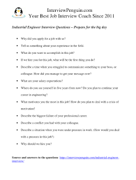 Motivation Interview Questions Top 12 Industrial Engineer Interview Questions And Answers