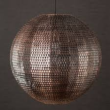 copper ball pendant light desreshome