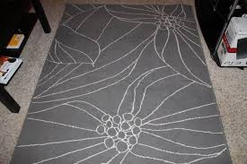ikea gislev grey pattern rug