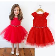 girl size 5 dresses retail new wedding party flower girl dress bright christmas red