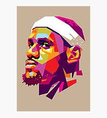 lebron james photographic print on cleveland cavaliers wall art with cleveland cavaliers wall art redbubble
