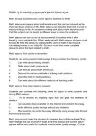 calam atilde copy o math essays excellent and useful tips for students to write math essays excellent and useful tips for students to write
