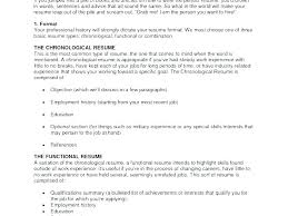 Various Resume Formats Types Resumes Different Of Chronological And Functional Oliviajane Co
