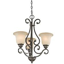 kichler lighting 43223oz camerena traditional chandelier in olde bronze
