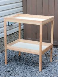 ikea sniglar baby change table thrift find for outdoor bar cart project satori