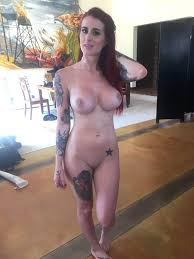 Brand New Tattooed Red Head Tana Lea Oiled Up For James Deen