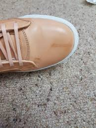 how to remove water stain from tan leather shoes
