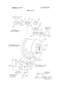 patent us3739270 electronic speedometer odometer patent drawing