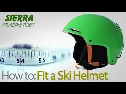 How To Fit A Ski Helmet Youtube