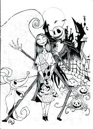 Nightmare Before Christmas Printable Coloring Pages Caseyconnellyme