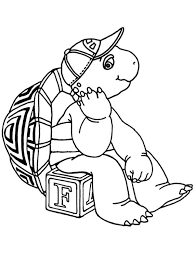 Small Picture Franklin The Turtle Coloring Pages Coloring Coloring Pages