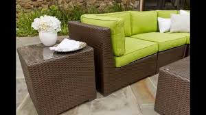 lawn furniture used patio furniture lime green chair rattan frame white vase and