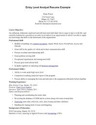 Job Resume Sample Entry Level Property Management Assistant For