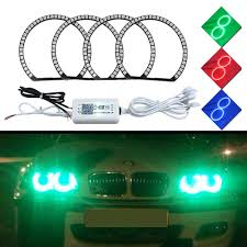 Halo Light Kits For Cars 131mm 145mm Car Rgb Halo Rings Angel Eyes Headlights For