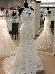 jewel neck appliques sheath wedding dress tbdress com