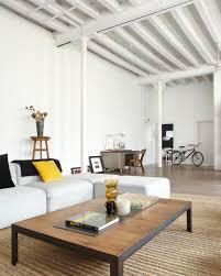 contemporary loft furniture. Architecture, Wooden Table Laminate Countertop And White Sofa Bed Loft Apartment Living Room Furniture Interior Contemporary