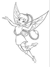 E7589 Peter Pan And Tinker Bell Printable Coloring Pages Disney