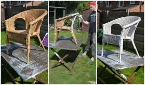 painted wicker furniture60 minute makeover Spray Painting our Nursery Wicker Chair  WELL