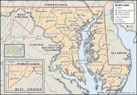 state and county maps of maryland