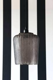 smoked glass pendant light cylinder