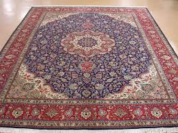 10x13 persian tabriz hand knotted wool traditional navy navy and red rug