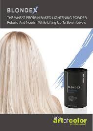 Hair Bleach Level Chart Blondex Lightening Powder The Gentle Hair Bleach Onc