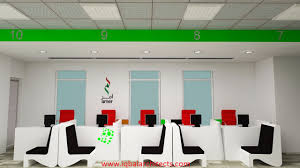 office interior designing. Service Counter Of Amer Office Interior Designing Dubai