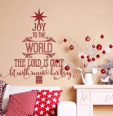 Wall Xmas Decorations Joy To The World Christmas Decorations Copy Wall Decals By