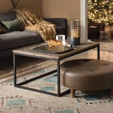 Emerald Home Laramie Rectangular Rustic Brown Reclaimed Wood Coffee Table |  Hayneedle