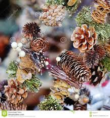 Pine Cone Christmas Decorations Christmas Tree Decoration Pine Cone Royalty Free Stock Photography