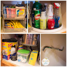 Under Kitchen Sink Organizing Under The Sink Organization Kitchen Series 2013 Pretty Neat Living