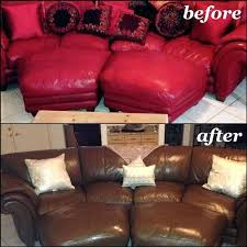 dye leather couch walnut sectional with before and after pictures stain on white edmonton at home