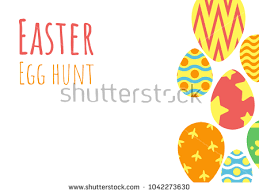 easter egg hunt template happy easter background easter egg hunt stock vector 2018