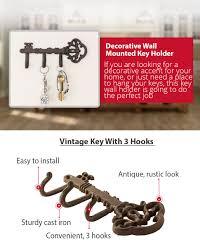 Key Holder For Wall Amazoncom Decorative Wall Mounted Skeleton Key Holder Vintage