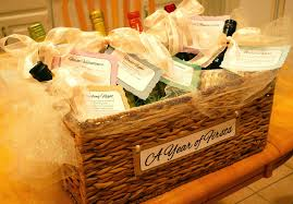 bridal shower gift basket ideas wine 2 set bridal shower wine basket gift