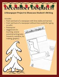 December Dispatch Newspaper Template By Celtic Cow Publications Tpt