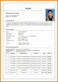 Curriculum Vitae Format Word Doc Resume Format In Word File Download
